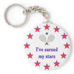 Earned My Stars Racquetball Basic Round Button Keychain