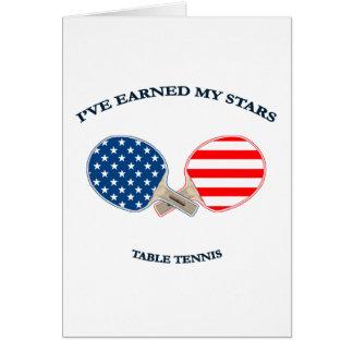 Earned My Stars Table Tennis Card