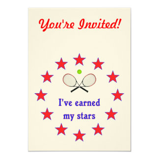 Earned My Stars Tennis Card