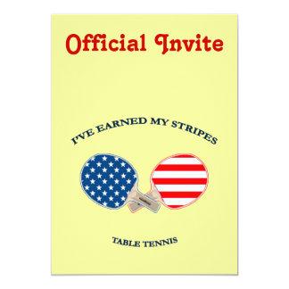 Earned My Stripes Table Tennis Card