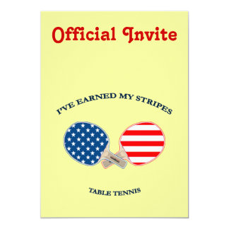 Earned My Stripes Table Tennis Invites