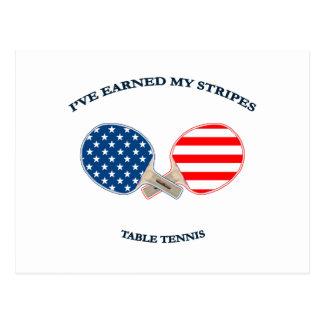 Earned My Stripes Table Tennis Postcard
