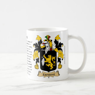 Earnest, the Origin, the Meaning and the Crest Coffee Mug