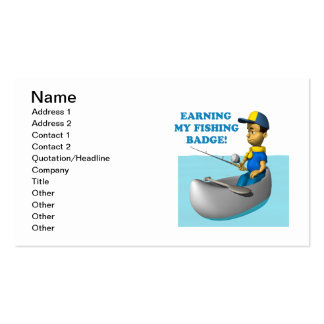 Earning My Fishing Badge 2 Double-Sided Standard Business Cards (Pack Of 100)