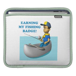 Earning My Fishing Badge 2 iPad Sleeves