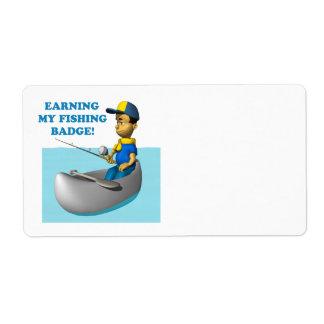Earning My Fishing Badge 2 Shipping Label