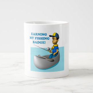 Earning My Fishing Badge 2 Large Coffee Mug