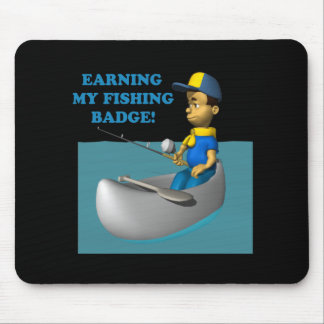 Earning My Fishing Badge 2 Mouse Pad
