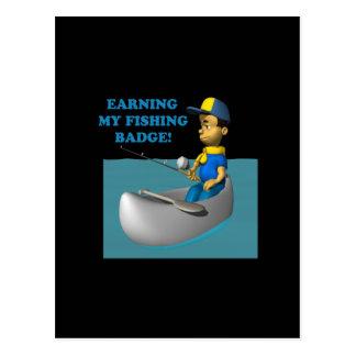 Earning My Fishing Badge 2 Postcard