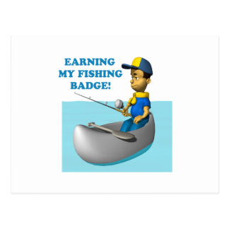 Earning My Fishing Badge 2 Postcard