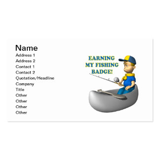 Earning My Fishing Badge Double-Sided Standard Business Cards (Pack Of 100)