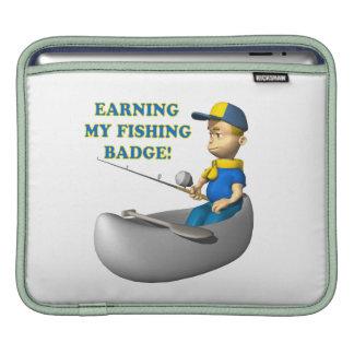 Earning My Fishing Badge Sleeve For iPads