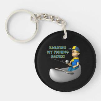 Earning My Fishing Badge Single-Sided Round Acrylic Keychain
