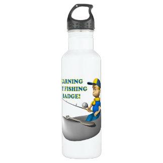 Earning My Fishing Badge 24oz Water Bottle