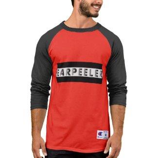 earpeeler mens 3/4 sleeve t shirt