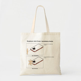 Earphone Jack Cover Installation Guide Tote Bag