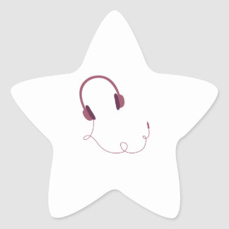 Earphones Star Sticker