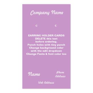 EARRING Cards Custom business cards