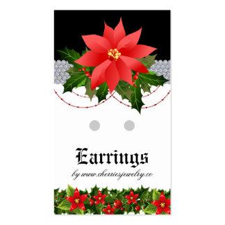 Earring Display Cards Christmas Business Card B