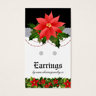 Earring Display Cards Christmas Business Card B