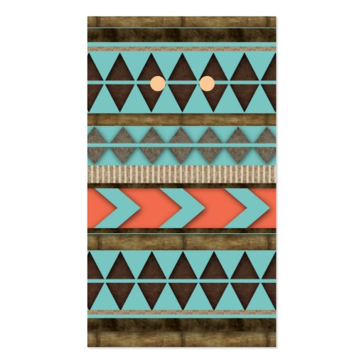 Earring Display Cards Cool Aztec Pattern Business Card