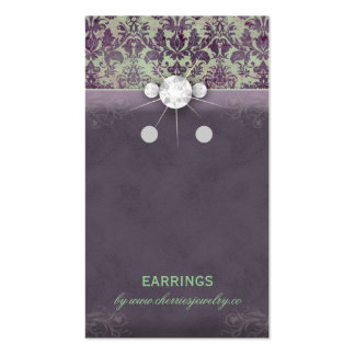 Earring Display Cards Vintage Damask Jewelry GP Business Card