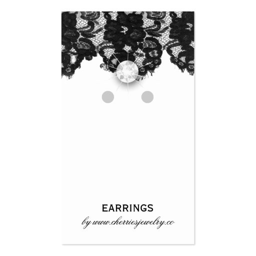 Earring display cards vintage lace jewelry business card for Business card display template