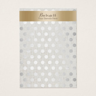 Earring Display Gold & Silver Dots Classy Linen Business Card