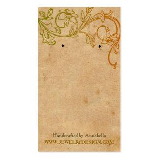 Earring Holder Business Card Template