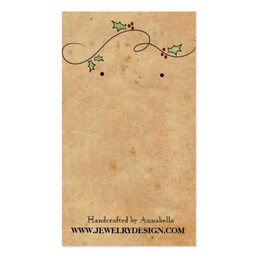 Earring holder business card template zazzle for Business card display template
