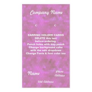 EARRING HOLDER Cards Custom business cards Pink