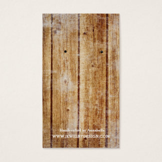 Earring Holder Rustic Barn Wood Business Card