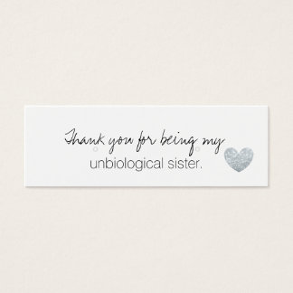 Earring Holder/Thank You - UnbiologicalSisterFab S Mini Business Card