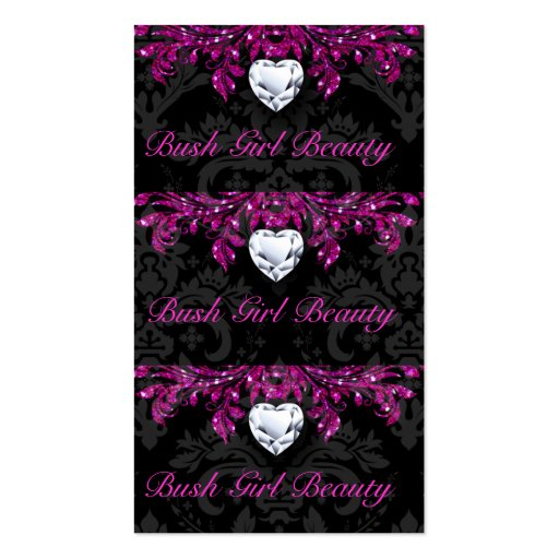 Earring Price Tags Vintage Damask Jewelry Black 2 Business Cards