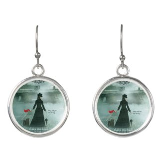 Earrings, Lady of Ashes, Mourning Bells Earrings