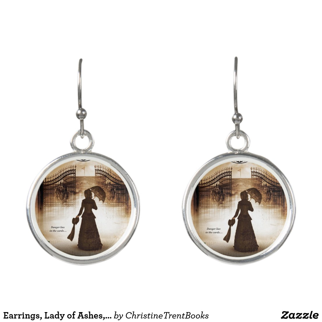 Earrings, Lady of Ashes, Virtuous Death Earrings