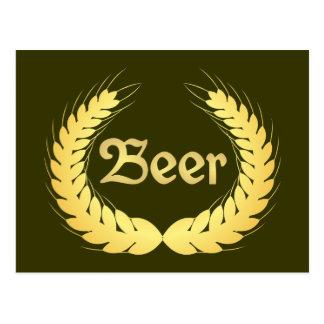 Ears beer spike more beer postcard
