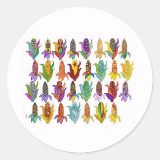 Ears of Corn Round Sticker