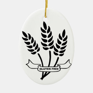 Ears of Wheat Ceramic Ornament