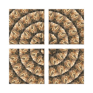 Ears Of Wheat In A Abstract Spiral Pattern, Canvas Print
