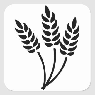 Ears of Wheat Square Sticker