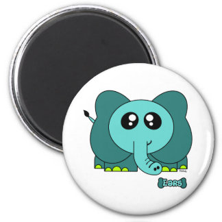 Ears Pudgie Pet 2 Inch Round Magnet