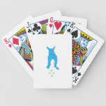Ears Up Blue Walking Dog Playing Cards