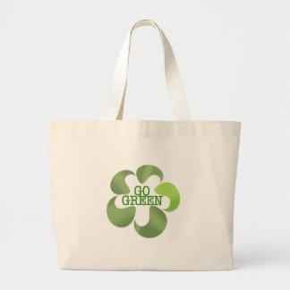 EART DAY GO GREEN CANVAS BAG