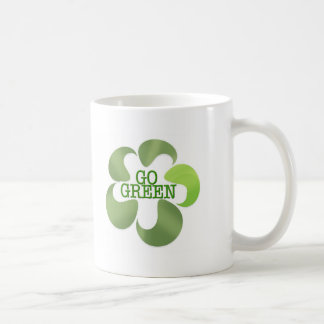EART DAY GO GREEN COFFEE MUG