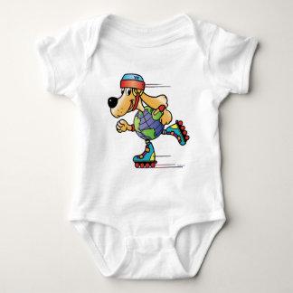 Eart Dog Skating Baby Bodysuit