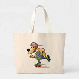 Eart Dog Skating Large Tote Bag