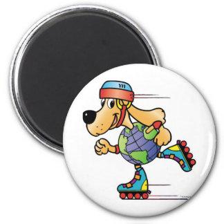 Eart Dog Skating Magnet