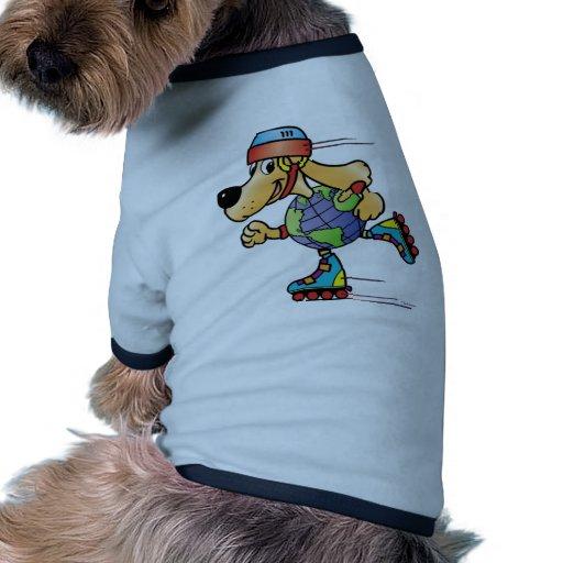 Eart Dog Skating Pet Tee Shirt