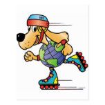 Eart Dog Skating Post Cards